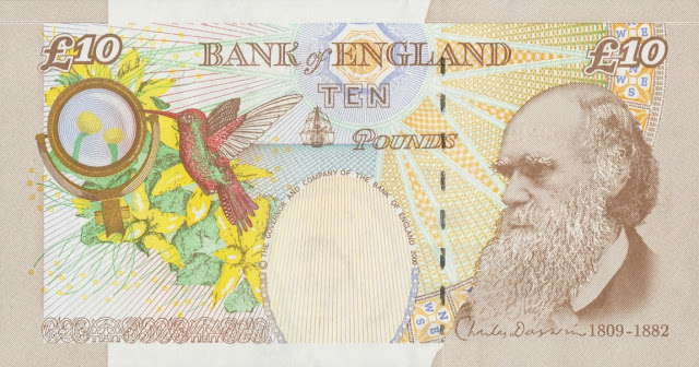 Great Britain 10 Pound Sterling note 2000 Charles Darwin