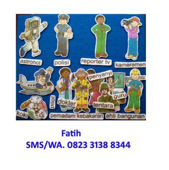 Mainan Edukasi Anak Flanel Set Profesi