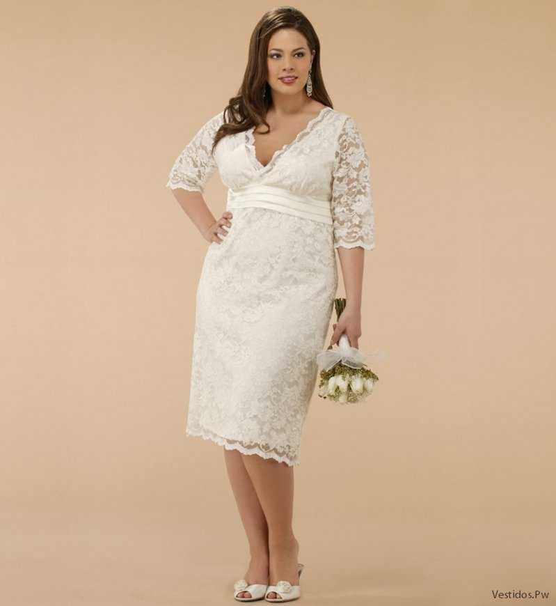Vestidos de boda civil de dia para gorditas