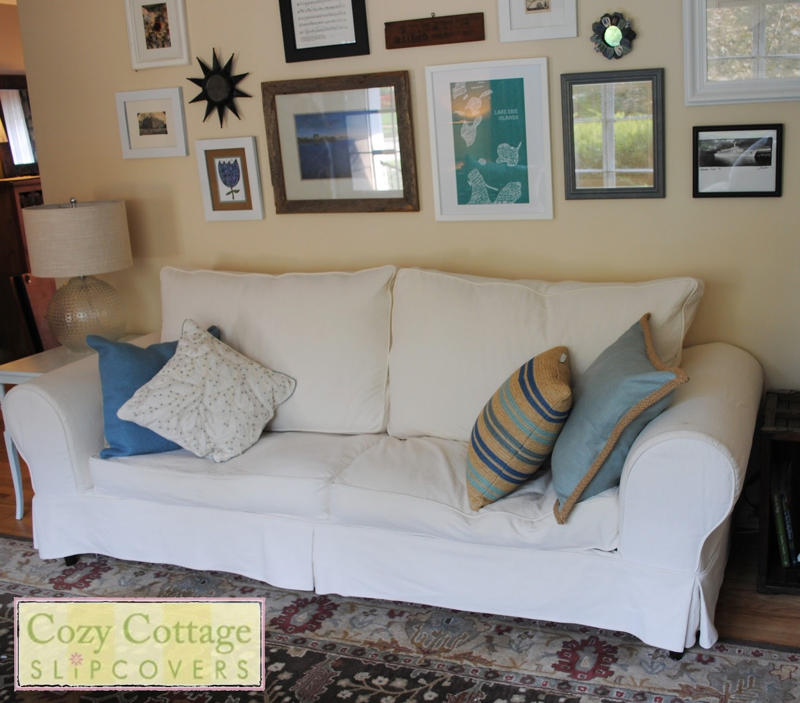 Cozy Cottage Slipcovers From Pillows to Boxed Cushions