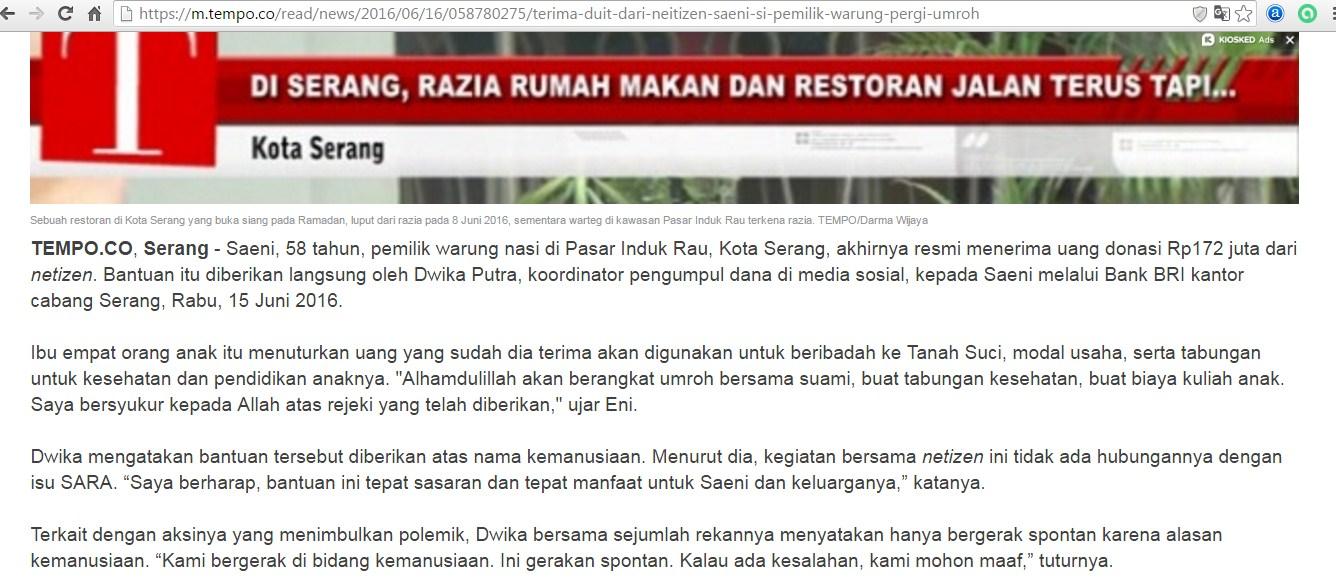 Ramadan Raid, Saeni, dan Aceh