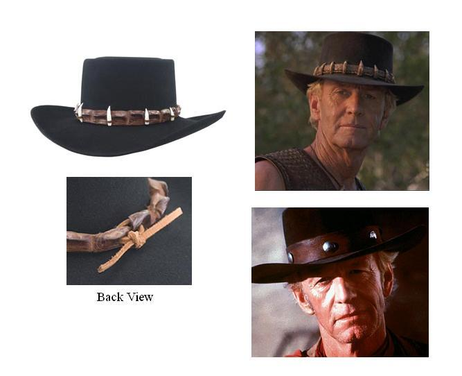 Old West Movies Collection  Miller Hats Crocodile Dundee Hat Collection 508c462454a7