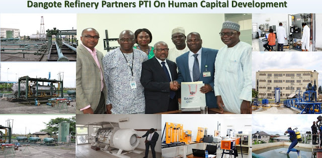 Dangote Refinery and Petrochemicals is to partner the Petroleum Training Institute (PTI)
