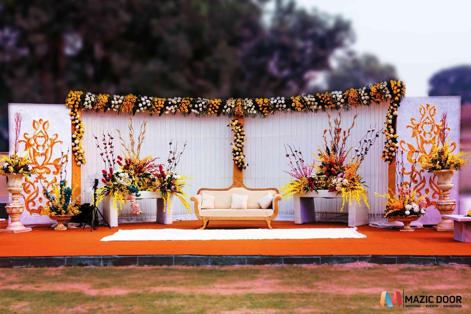 The Grand Wedding Stage Design In Guwahati Designed By Mazic Door