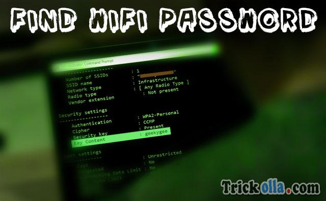 Find Wifi Password using CMD