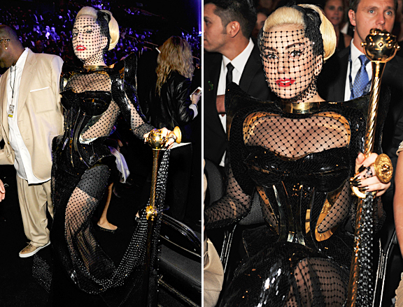 Lady Gaga Grammys: Franky+Elizabeth: 2012 Grammy Fashion