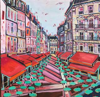 Rue de Montorgueil por Isabelle de Kergal.