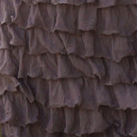 Taupe Brown Ruffle Shower Curtain