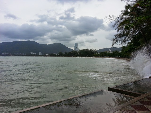 Patong Beach high tide