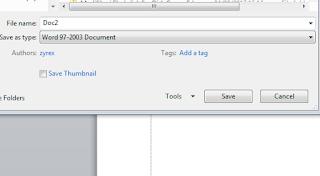 cara menyimpan file office