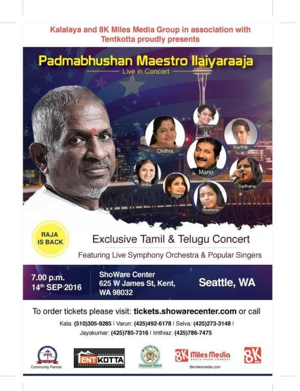 Ilayaraja Live Music Concert 2016