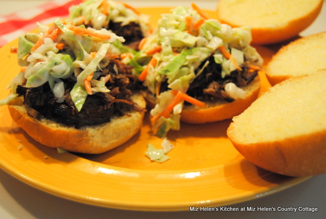 Slow Cooker Raspberry Chipotle Beef Sliders at Miz Helen's Country Cottage