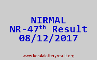 NIRMAL Lottery NR 47 Results 8-12-2017