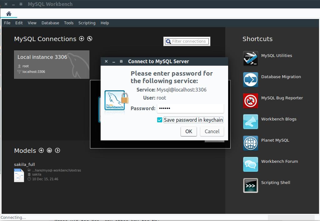 mysql workbench linux ubuntu installer des problèmes