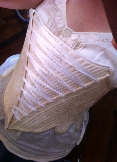 29e487868db Aylwen Gardiner-Garden  Front-laced 18th Century Silk Stays  DPP