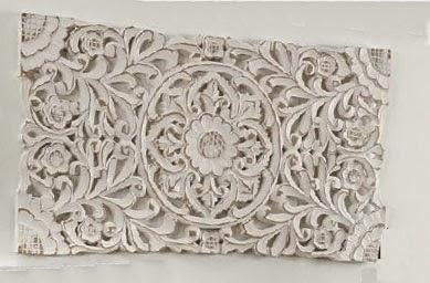 Cuadro talla blanco decape