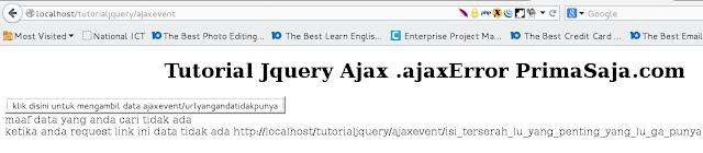 Gambar hasil tutorial jquery ajax .ajaxError