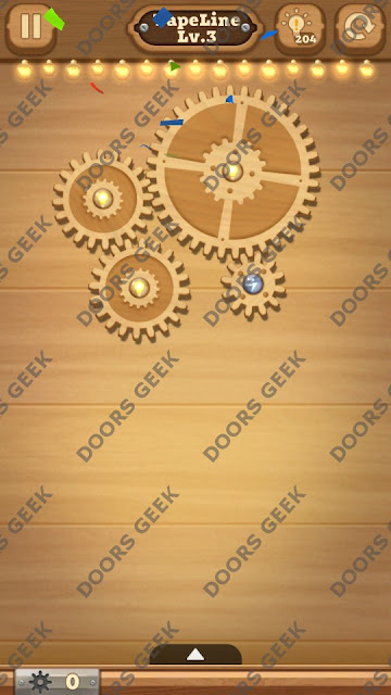 Fix it: Gear Puzzle [TapeLine] Level 3 Solution, Cheats, Walkthrough for Android, iPhone, iPad and iPod