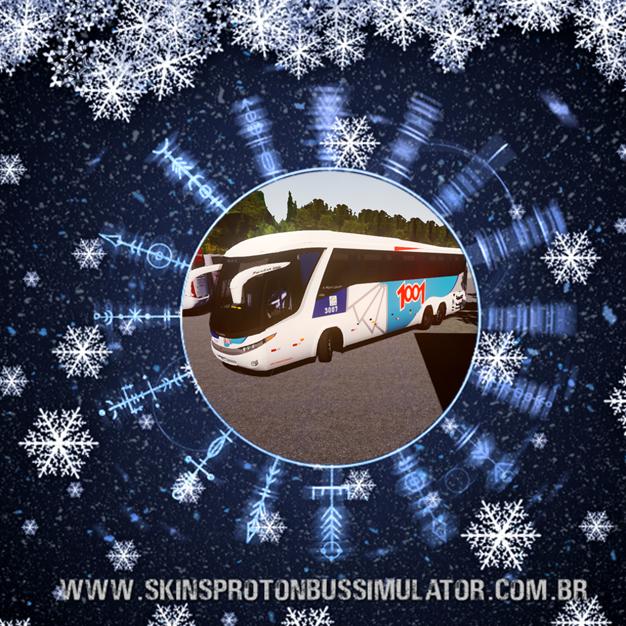 Skin Proton Bus Simulator Road - G7 1200 Volvo B12R Auto Viação 1001