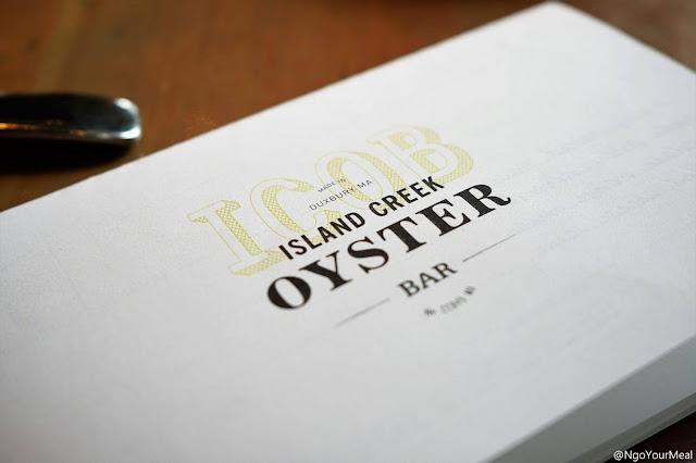 Island Creek Oyster Bar in Boston