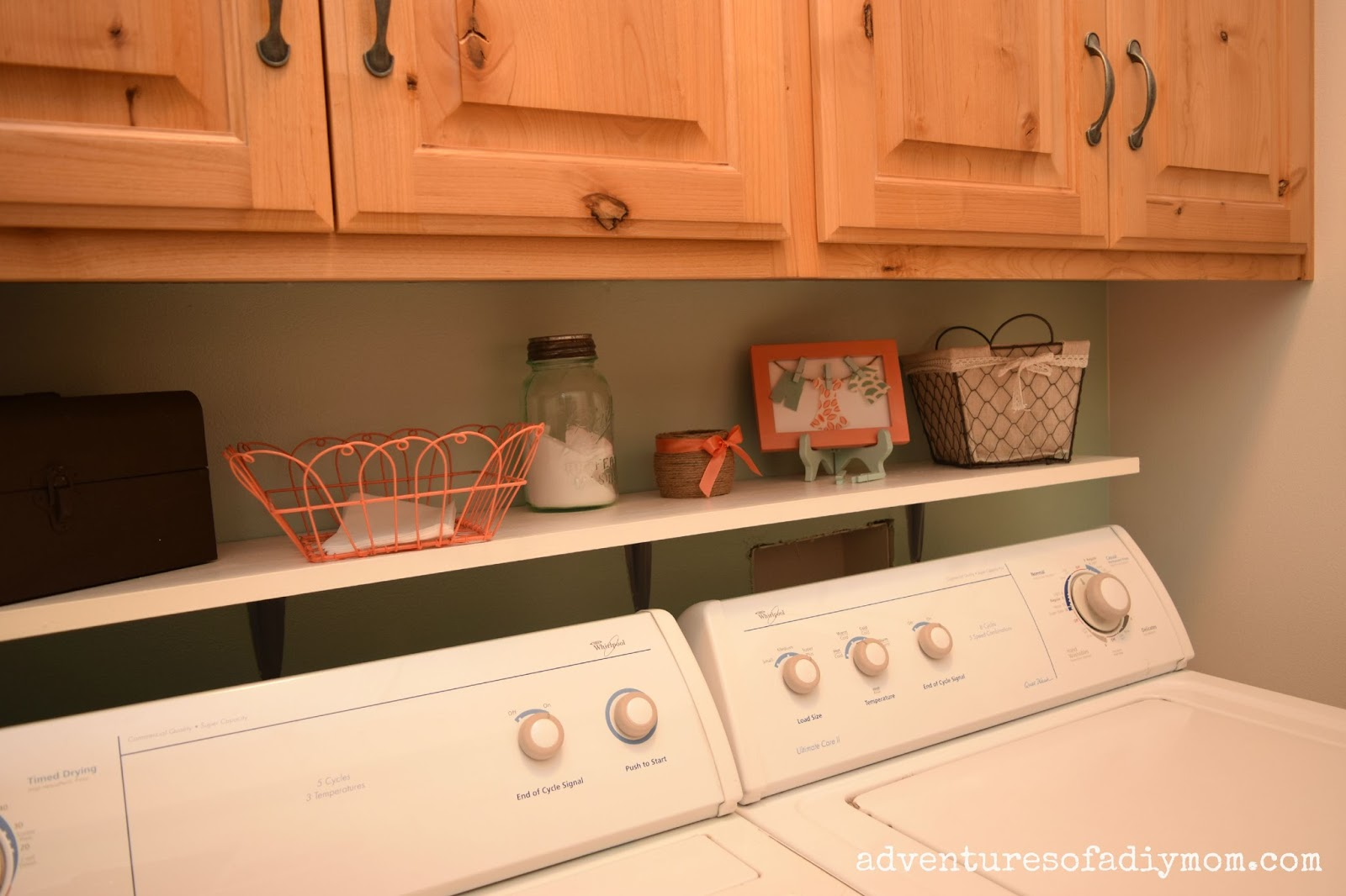 easy diy shelf over the washer laundry room makeover adventures of a diy mom. Black Bedroom Furniture Sets. Home Design Ideas
