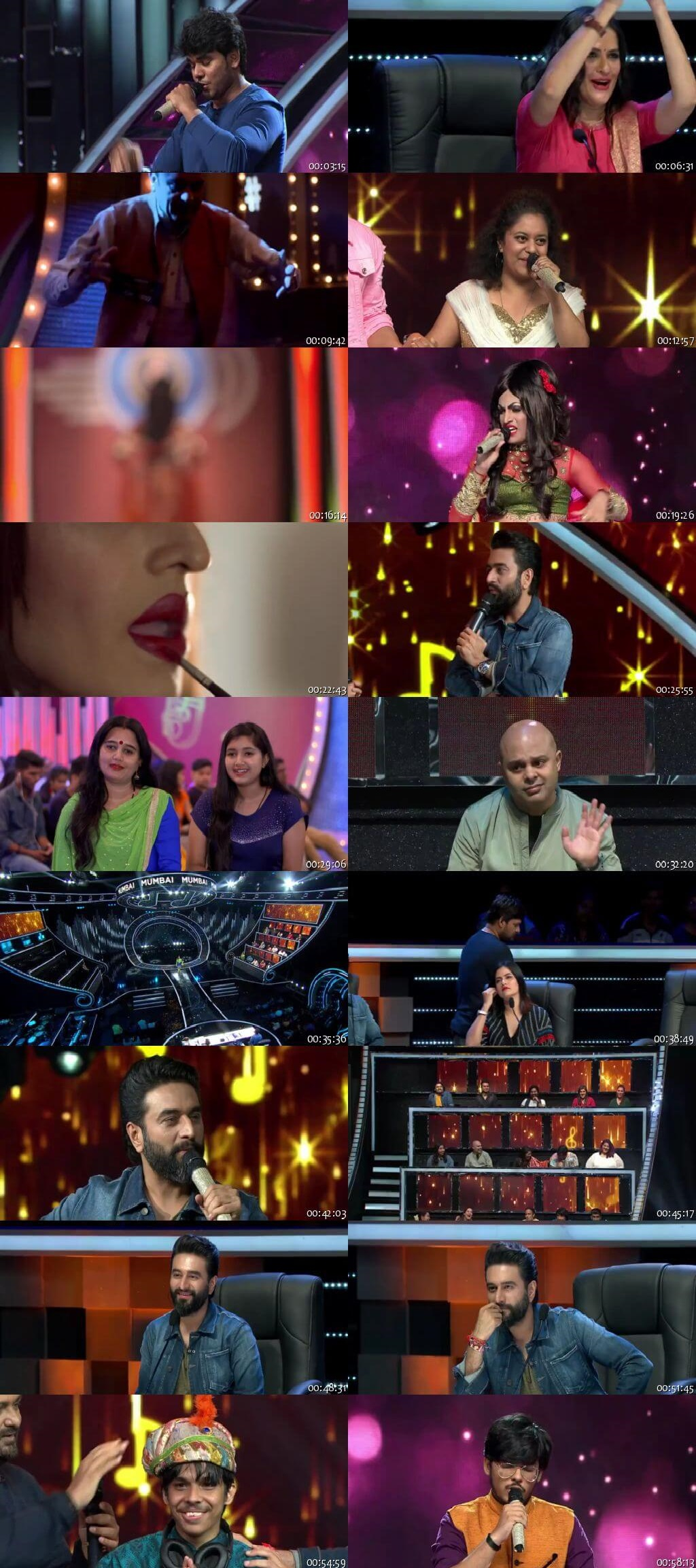 Screenshots Of Hindi Show Sa Re Ga Ma Pa 14th October 2018 Episode 02 300MB 480P HD