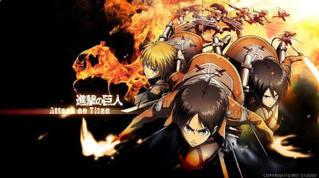 Shingeki no Kyojin - Daftar Anime Fantasy Terbaik Sepanjang Masa