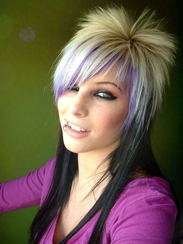 Amazing Emo Hairstyles For Girls And Choppy Hairstyles Hairstyles For Men Maxibearus