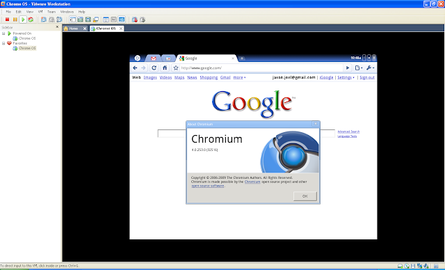 Google Chrome OS VMMWare Image 2009 Free Download