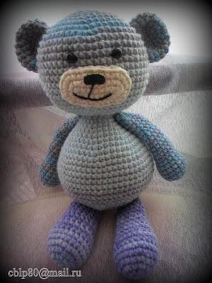 Вязаная игрушка медвежонок крючком
