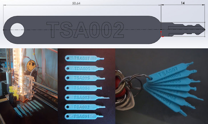 Lockpickers 3D-Printed Master Key for TSA Luggage Locks and BluePrint Leaked Online