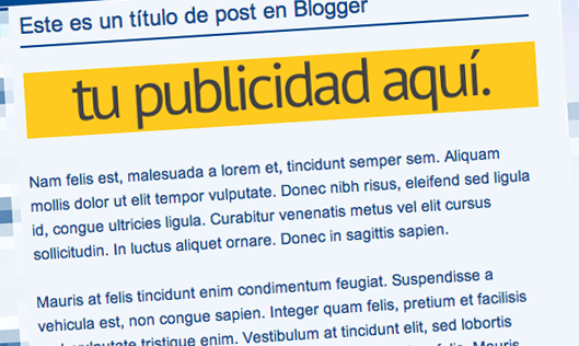 Anuncio Publicidad Bajo el Título de Post Blogger