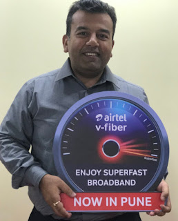 Airtel 'V-Fiber launched in Pune