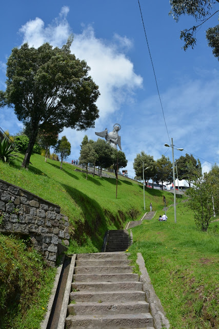 El Panecillo hill Virgin