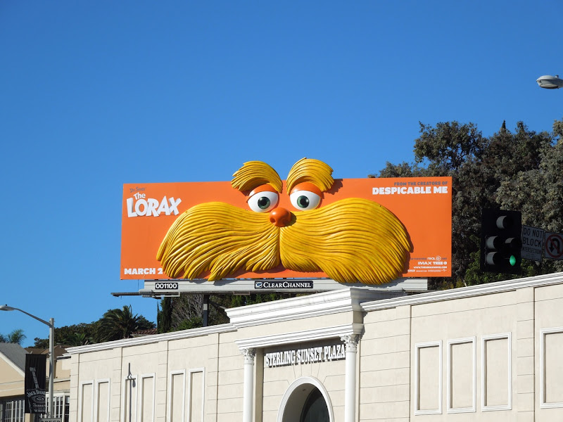 The Lorax movie billboard Sunset Plaza