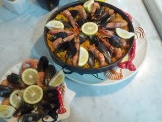 Recette du Paella poulet et fruits de mer Réalisée par Samsara Parfum