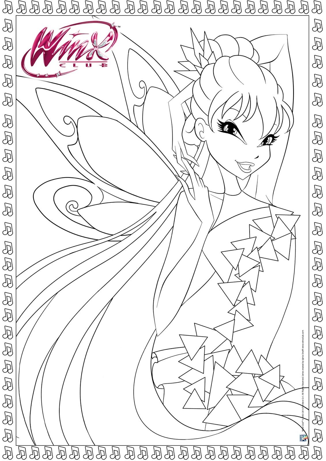 Winx Tynix Da Colorare Winx Club Coloring Pages Tynixa Con Winx