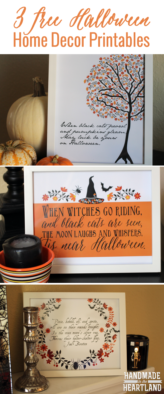 Halloween Decor: 3 Free Halloween Poem Prints