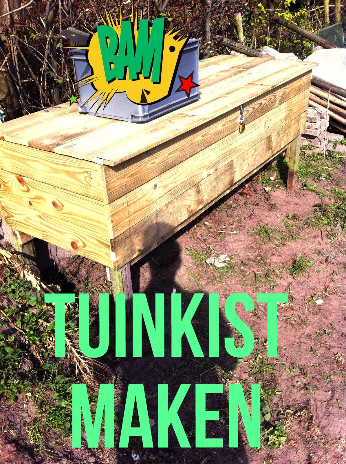 tuinkist moestuin maken tuingereedschap tuinkast