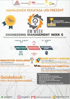 LKTI (LOMBA KARYA TULIS ILMIAH) UISI Engineering Management Week 5 2019