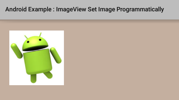 How to programmatically set image to ImageView in Android