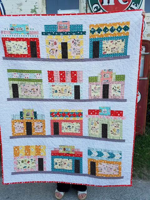 Free Storefronts Quilt for Five & Dime fabric by Heidi Staples of Fabric Mutt for Penny Rose Fabrics