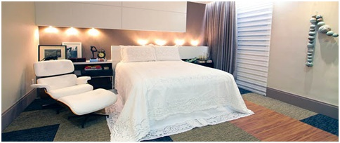 A special bedroom for elderly people. Modern dormitory for seniors