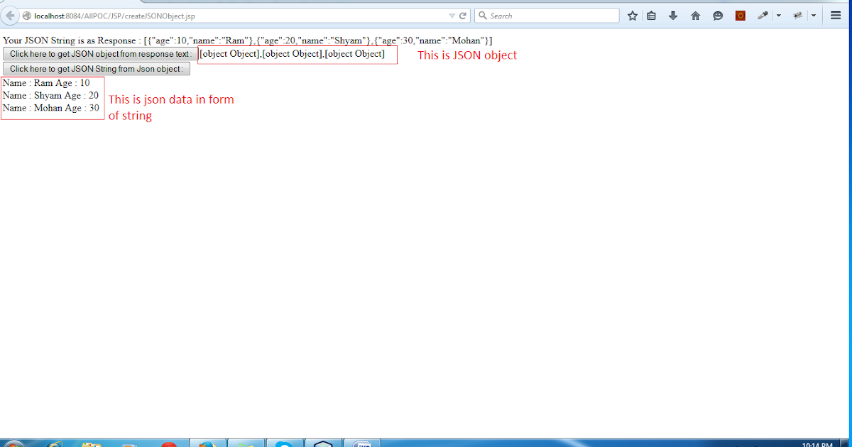 How to convert Java Object in JSON and how to retrieve it at