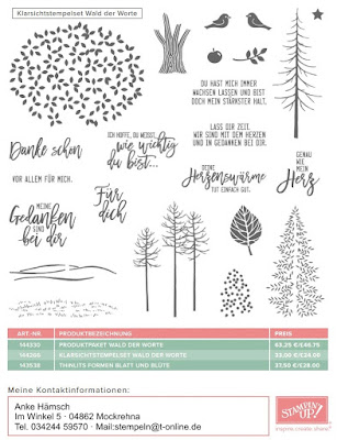 Wald der Worte, Stampin up