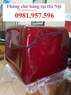 Thùng chở hàng sau xe máy tại Hà Nội, thùng giao hàng, giao cơm hộp