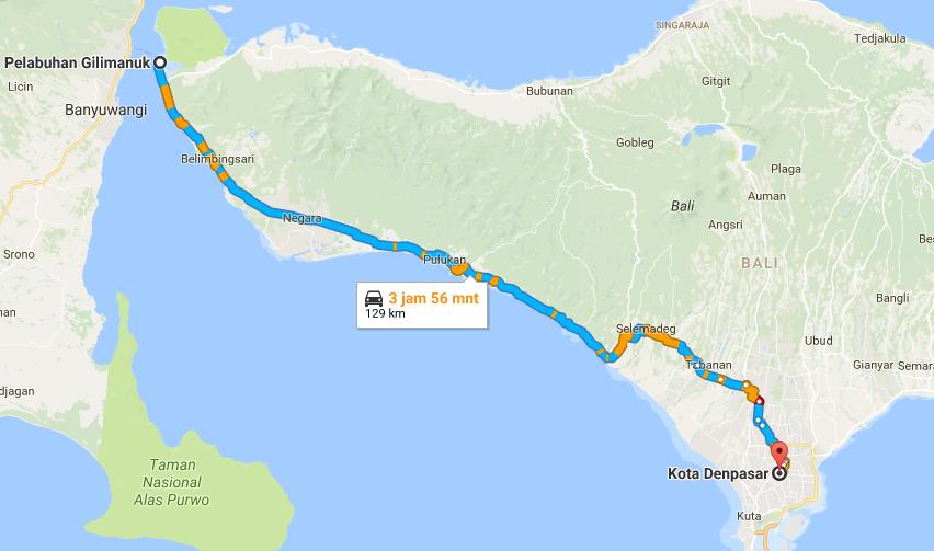 Inilah Tempat Wisata Sepanjang Jalur Gilimanuk Denpasar