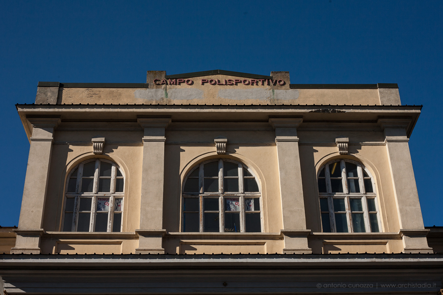 stadio silvio piola vercelli architettura