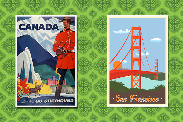 Affiche pays vintage