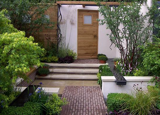 contoh desain taman di depan rumah